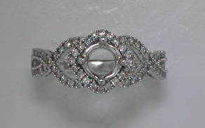14kt white gold ring with 58 diamonds =.35ct  style 135-0105  $1450.00