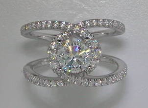 semi engagement ring in 14kt white gold =.63ct style 405-0206  $3050.00