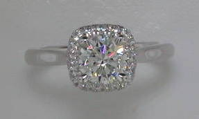 semi engagement ring in 14kt white gold = .45ct  style 405-0214  $1975.00