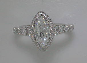 semi engagement ring in 14kt white gold =.96ct  style 405-0222  $ 3450.00