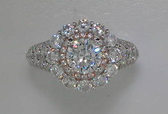 semi engagement ring in 14kt white gold = 2.06ct  style 405-0225  $7600.00