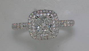 semi engagement ring in 14kt white gold =1.02ct   style 405-0237 $3650.00