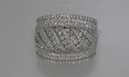 18kt white gold.  272 diamonds =1.87ct  style  700-0293  $5750.00