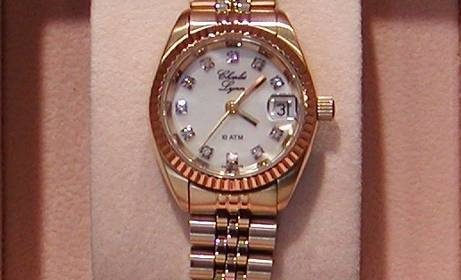 Signature collection womans yellow diamond dial watch style A4700-LIT $525.00