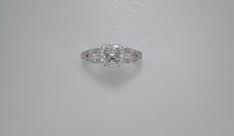 Semi-mount bridal set, set in 14kt white gold with 80 diamonds =.38ct style 941-0009 $2500.00