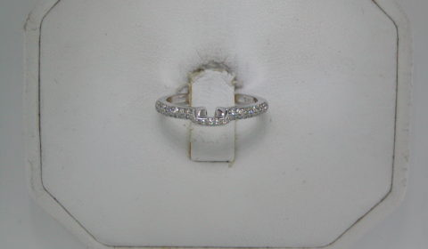 Wedding band set in 14kt white gold with diamond pave =.21ct total weight  style 630-0024 $1250.00