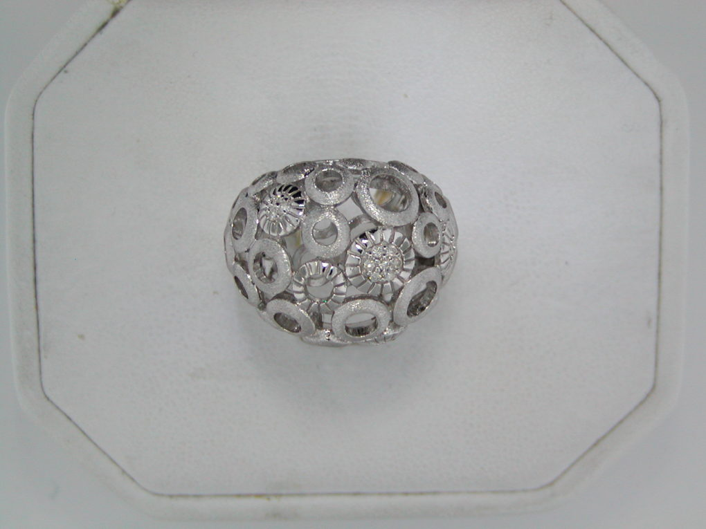 Sterling silver ladies ring with 16 diamonds =.10ct from the Aurora collection style 830-0150 $450.00