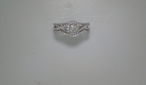.28ct bridal set, set in 14kt white gold with 62 diamonds =.52ct style ER98733W44JJ.CSD4 $4800.00