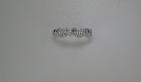 Stackable ladies ring set in 14kt white gold with 37 diamonds =.15ct style LR4800W44JJ $775.00