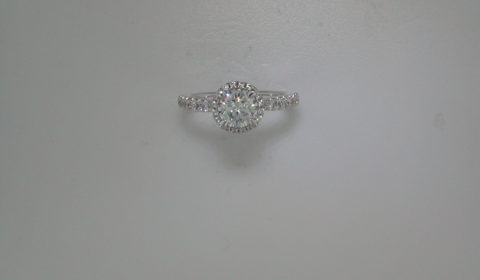 Semi-mount engagement ring with diamonds =.64ct style Er12596R4ALZJJ $2840.00