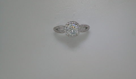Semi-mount engagement ring with diamonds =.51ct style Er12601R4ALZJJ $2765.00