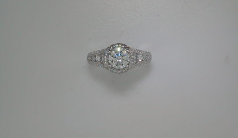 semi-mount engagement ring with diamonds =1.17ct style ER12610R4ALZJJ $5275.00