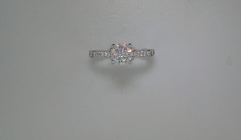 Semi-mount engagement ring with diamonds =.58ct style 405-0200 $2500.00