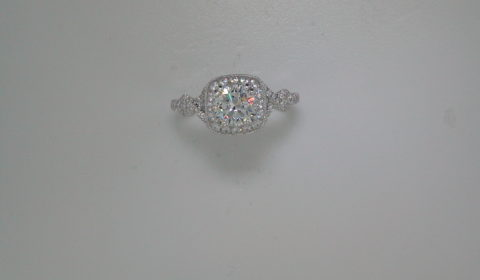 semi-mount engagement ring with diamonds =.72ct style 405-0201 $2900.00