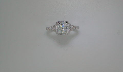 semi-mount engagement ring with diamonds =.67ct style 405-0202 $2700.00