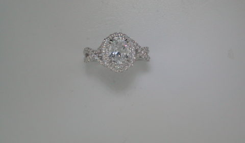 semi-mount engagement ring with diamonds =.68ct style 405-0205 $3100.00