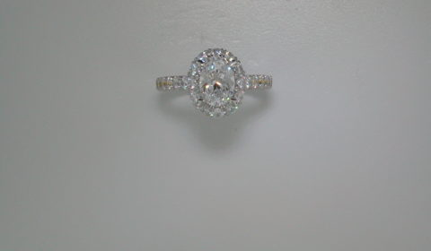 semi-mount engagement ring with diamonds =1.15ct style 405-0207 $3900.00