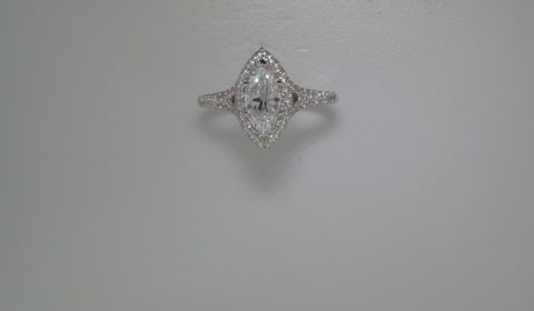 semi-mount engagement ring with diamonds = .63ct style 405-0208 $2550.00