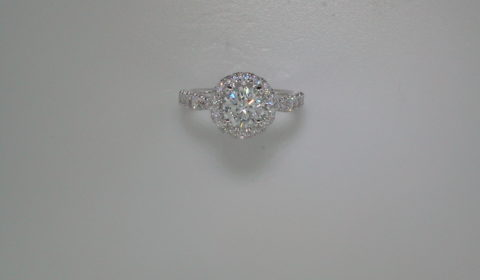 semi-mount engagement ring with diamonds =.86ct style 405-0209 $3150.00