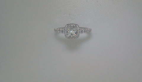 semi-mount engagement ring with diamonds =.63ct style 405-0210 $2425.00
