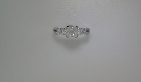 semi-mount engagement ring with diamonds =.69ct style 405-0211 $2900.00