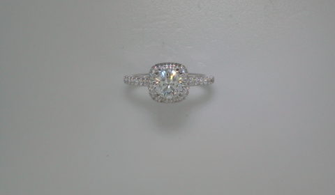 semi-mount engagement ring with diamonds =.64ct style 405-0212 $2475.00