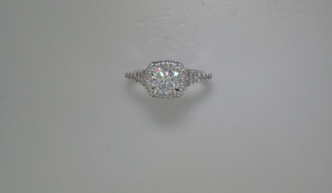 semi-mount engagement ring with diamonds =.59ct style 405-0213 $2350.00