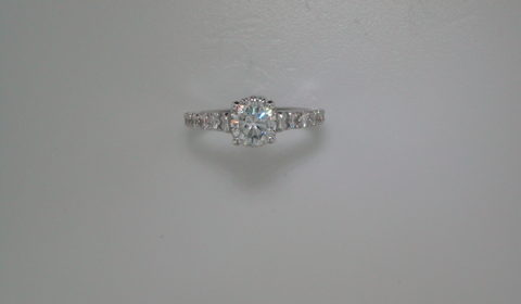 semi-mount engagment ring with diamonds =.48ct style 405-0216 $2100.00