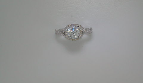 semi-mount engagement ring with diamonds =.54ct style 405-0217 $2500.00