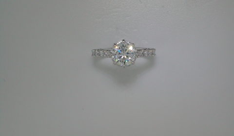 semi-mount engagement ring with diamonds =.74ct style 405-0218 $2600.00