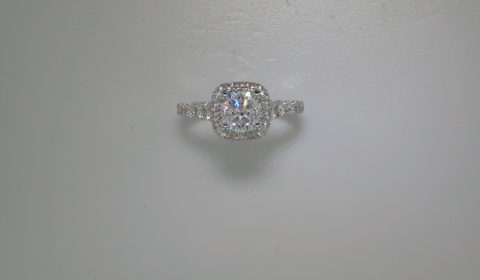 semi-mount engagement ring with diamonds =.87ct style 405-0220 $3250.00