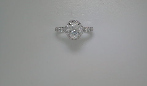 Semi-mount engagment ring with diamonds =.80ct style 405-0221 $3050.00