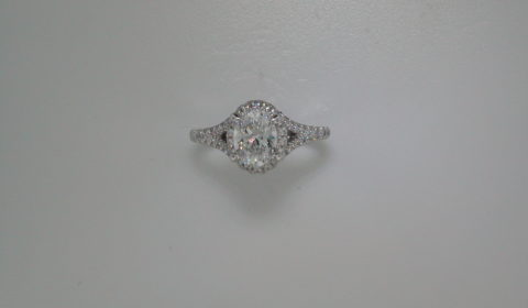 Semi-mount engagement ring with diamonds =.49ct style 405-0224 $2500.00