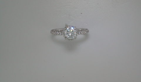 Semi-mount engagement ring with diamonds =.78ct style ER12805R4ALZJJ $3250.00