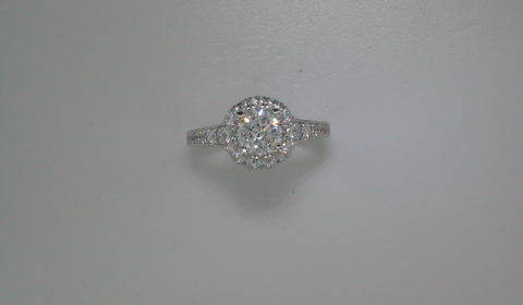 Semi-mount engagement ring with diamonds =1.03ct style ER12825R4STZJJ $4115.00
