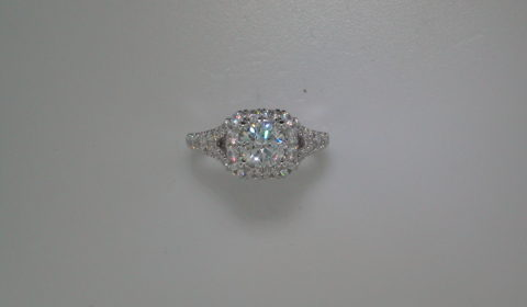 Semi-mount engagement ring with diamonds =1.06ct style ER12830R4STZJJ $4100.00