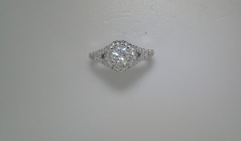 Semi-mount engagement ring with diamonds =.97ct style ER12834R3STZJJ $3815.00