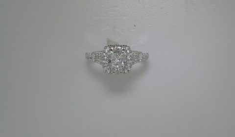 Semi-mount engagement ring with diamonds =.91ct style 405-0235 $3500.00