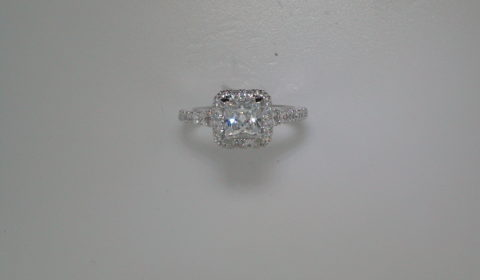 Semi-mount engagement ring with diamonds =.76 style 405-0236 $2850.00