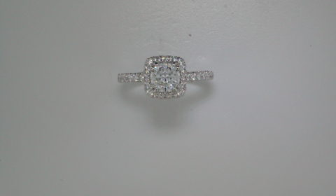 Semi-mount engagement ring with diamonds =.91ct style 405-0240 $3650.00