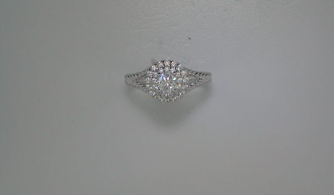 Semi-mount engagement ring with diamonds =.65ct style 405-0241 $3000.00