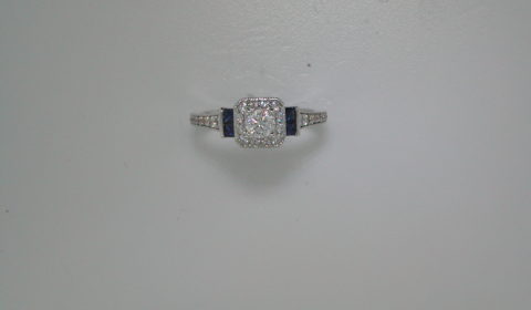 Complete engagement ring with diamonds =.57ct style 405-0245 $2250.00