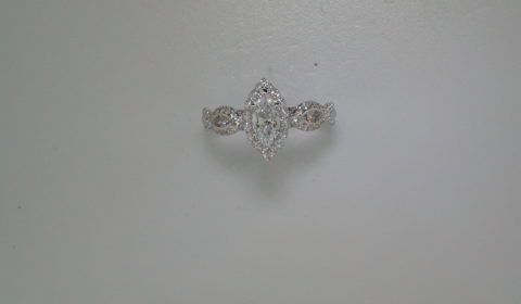 Complete engagement ring with diamonds =1.10ct style 405-0246 $4600.00