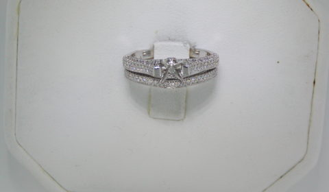 Semi-mount bridal set, set in 14kt white gold with 117 diamonds =.45ct style 700-0260 $2750.00