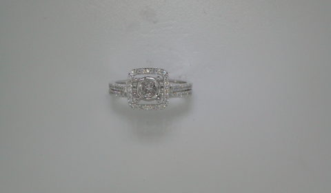 Semi-mount bridal set, set in 14kt white gold with 58 diamonds =.37ct  style 700-0316 $1875.00