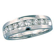 7mm gents wedding band with 8 diamonds =.96ct style 200-0436 $3450.00
