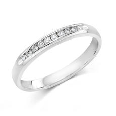 Anniversary ring in 14kt white gold with 10 diamonds =.10ct  style 200-0592  $550.00