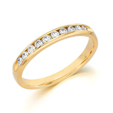 Anniversary ring 14kt yellow gold with 12 diamonds =.24ct  style 200-0594 $850.00