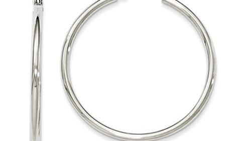 2mm hoop earrings 35mm diameter in sterling silver  style 800-1210 $37.50