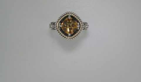 2.10ct citrine ring in sterling silver and 14kt yellow gold Style 800-1800 $125.00